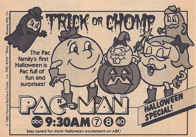 Hanna Barbera Pac Man Halloween Special Tv Guide Ad 1982