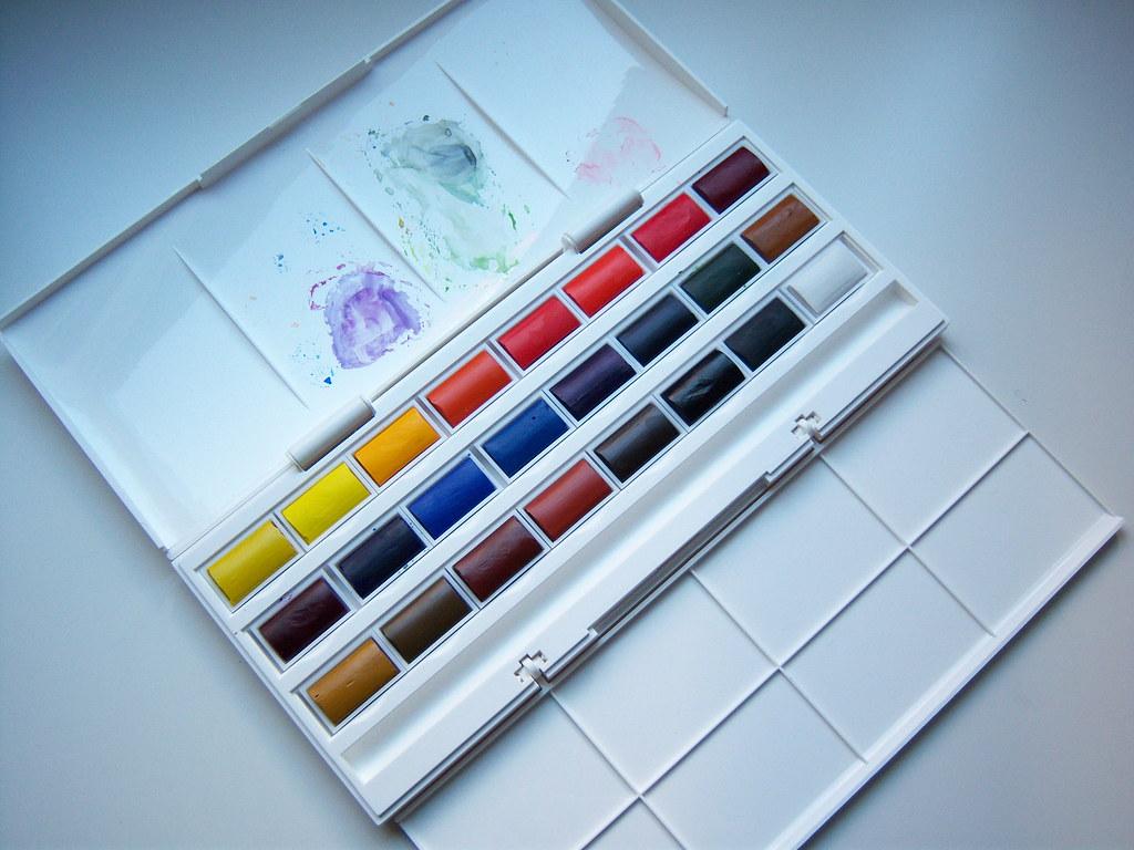 winsor newton cotman watercolour 24 whole pan studio set flickr