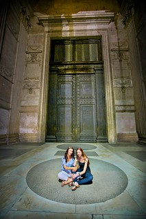 In front of the Pantheon doors, Rome | by Michael Foley Photography