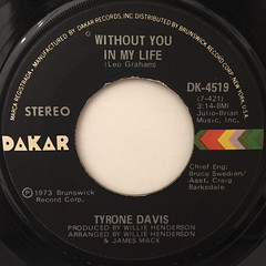 TYRON DAVIS:WITHOUT YOU IN MY LIFE(LABEL SIDE-A)