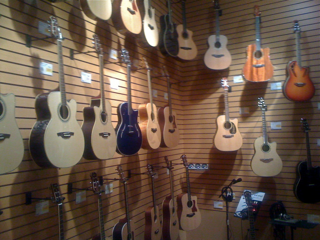 sweetwater store acoustic guitars an assortment of acous flickr. Black Bedroom Furniture Sets. Home Design Ideas