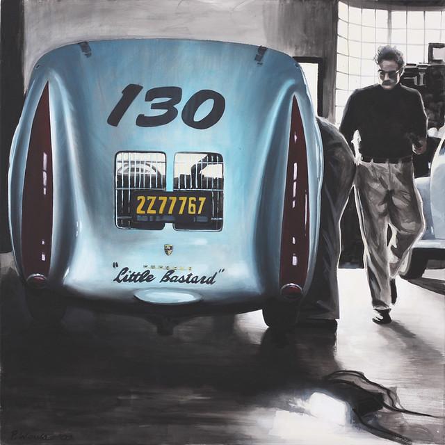 Porsche 550 Quot Little Bastard Quot Amp James Dean Painting By