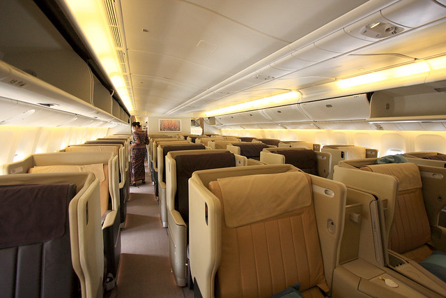 Singapore Airlines - Business Class Cabin | A Sutanto | Flickr