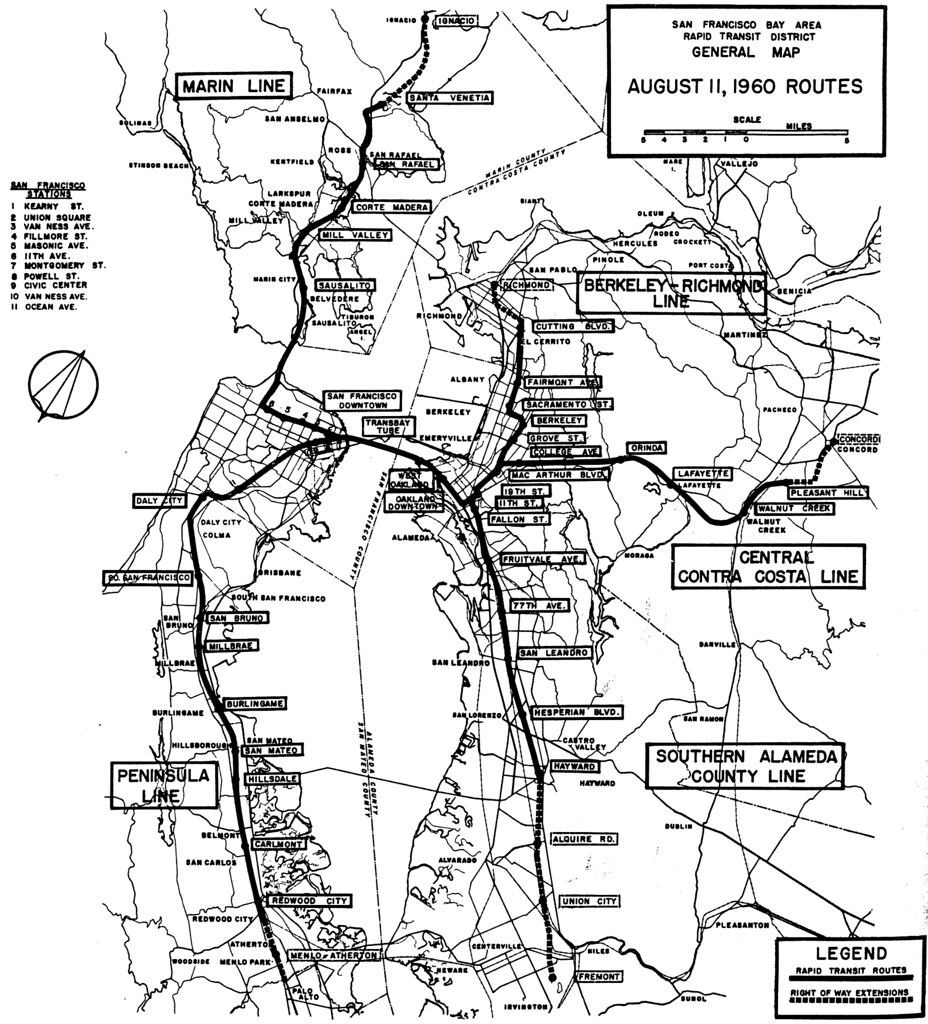 San Francisco Bay Area Rapid Transit District General Map  Flickr