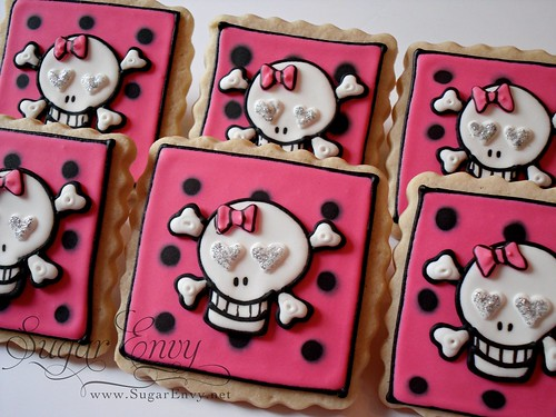 Goth Punk X-Bones Cookie Favors | by Sugar Envy