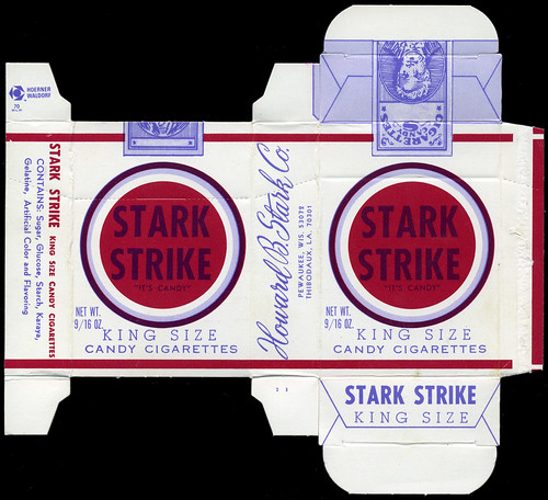 Stark Strike King Size Candy Cigarettes Candy Box