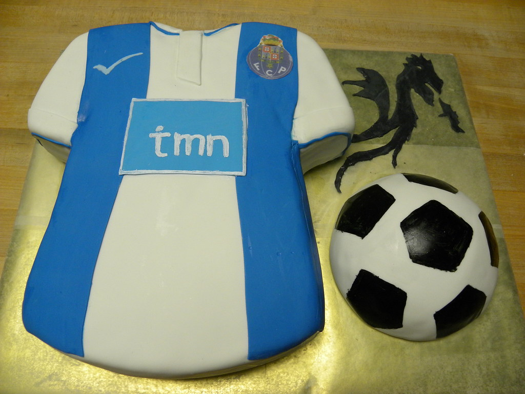Fc Porto Team Jersey Cake Shirt Is Chocolate Cake With Cho Flickr