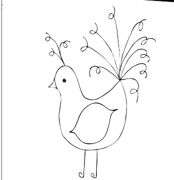 Free Bad Hair Day Bird Embroidery Pattern Here Is Another Flickr