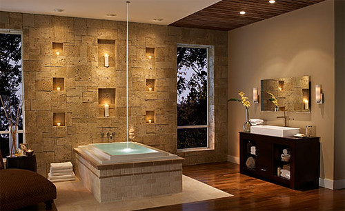 Bathroom Wall Stone Interior Design Ideas Bathroom Wall