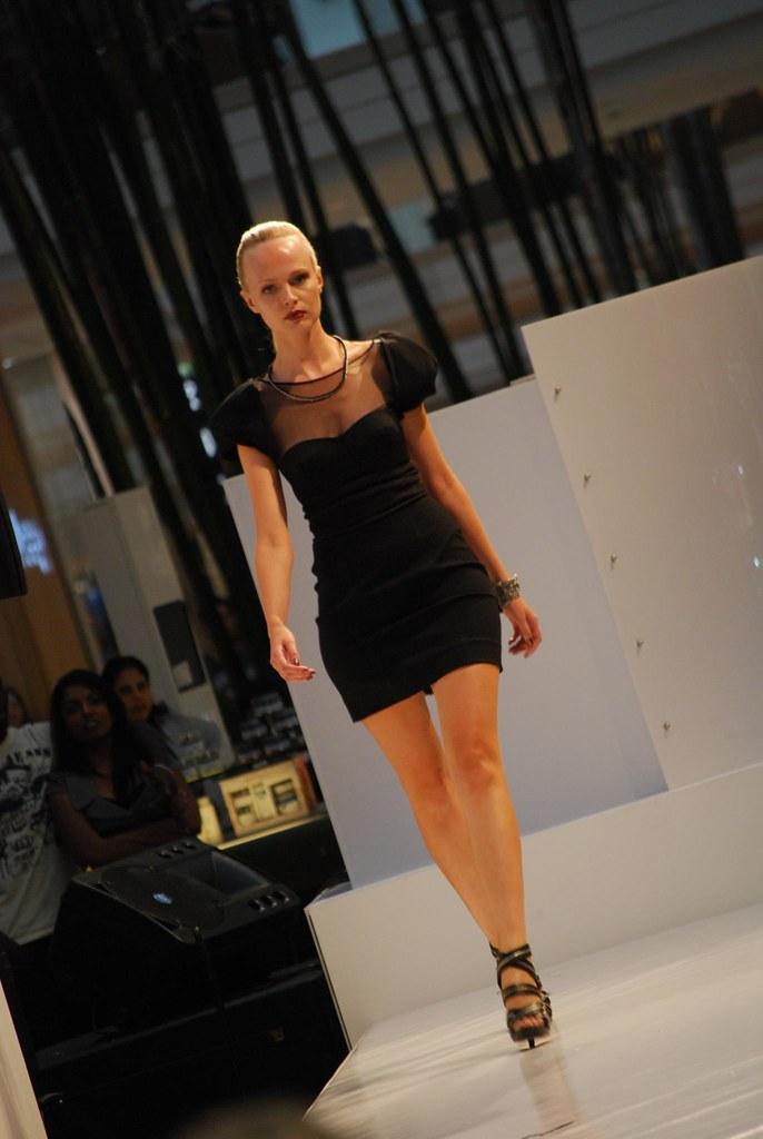 Cap Sleeve Little Black Dress Ck Calvin Klein Runway Sho Flickr