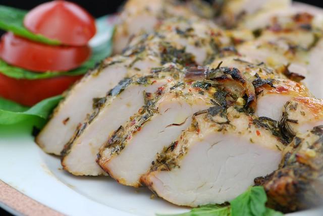 Tuscan Turkey Breast   A butterflied turkey breast in our ho ...