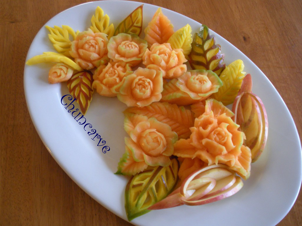 Melon fruit platter this design for mother