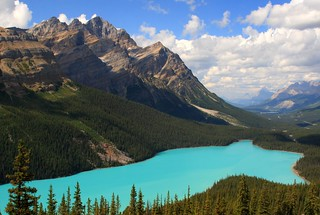 Classic view of a cloudfree Peyto Lake, Banff National Park, Alberta, Canada | by Alaskan Dude