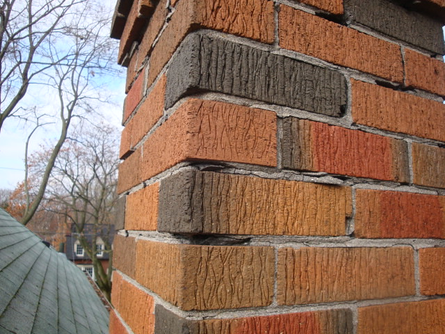 Repointing A Chimney : Brick work on chimney needs repointing