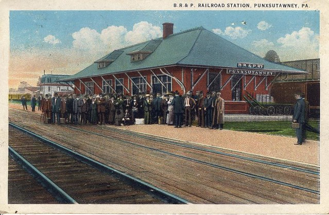 Br Amp P Railroad Station Punxsutawney Pa Buffalo