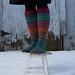 my stripey noro knee socks say...