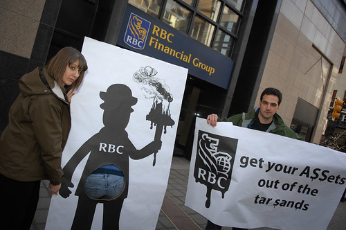 Calgary Action Calling on RBC to get their ASSets out of the Tar Sands | by Rainforest Action Network