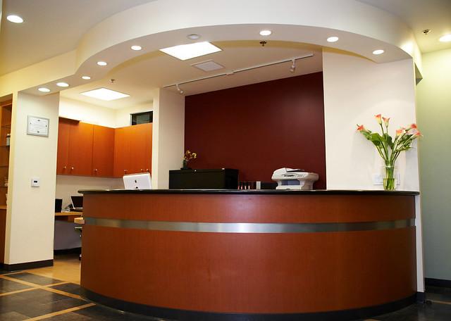 dental office reception. Dr. Yung Dental Office Reception Desk | By Design Ergonomics