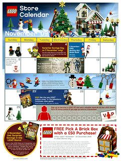 UK LEGO Brand store calendar for November 2009 | by hmillington