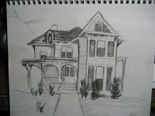 Victorian House Sketch I Haven T Picked Up A Pencil And Pa Flickr