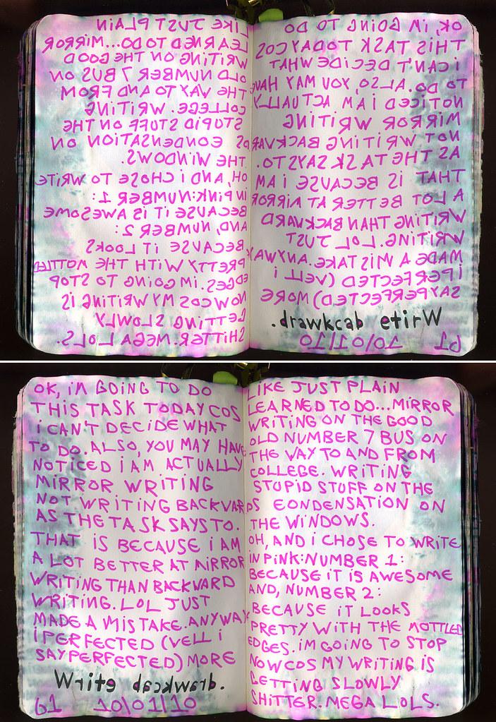 Wtj 10 01 10 pg61 write backward i did mirror writing for Mirror writing