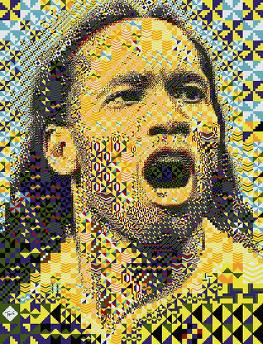 Didier Drogba: Côte d'Ivoire 2010 (Third mosaic illustration) | by tsevis