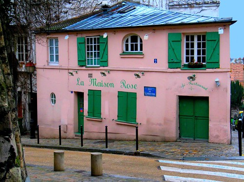 Butte montmartre la maison rose paris caf for La maison rose lourmarin