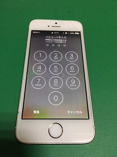 265_iPhone5Sのフロントパネル液晶割れ | by Smapho_Repair_House