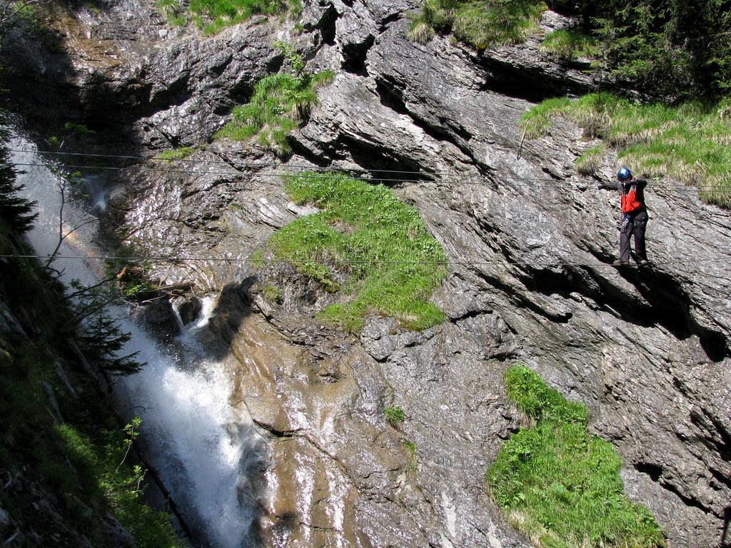Klettersteig Mürren : Seilbrücke im klettersteig mürren kanton bern schweiz flickr