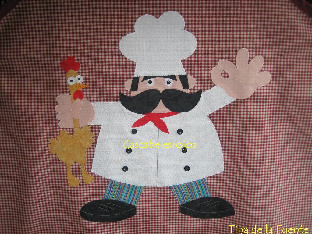 Cocinero primer plano del cocinero que puse en el mandil - Patrones para hacer patchwork ...