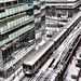 Snow Day Chicago: Leaving the Clark-Lake Station