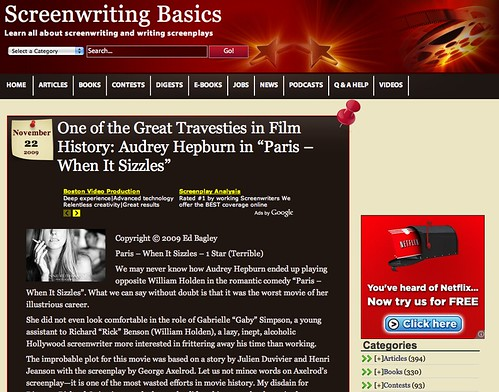 blog screenwriting bloggers