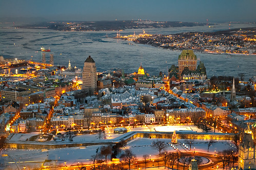 Old Quebec Cityscape In Christmas Emmanuel Huybrechts