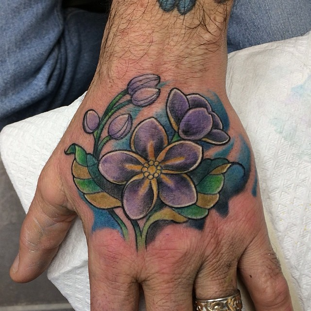 One Piece Hand Tattoo: Cool Hand Piece From Today- #forgetmenot #flower #tattoos