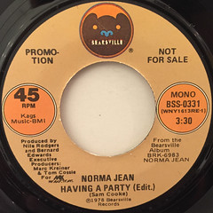 NORMA JEAN:HAVING A PARTY(LABEL SIDE-B)