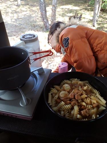 仙台城址で昼食
