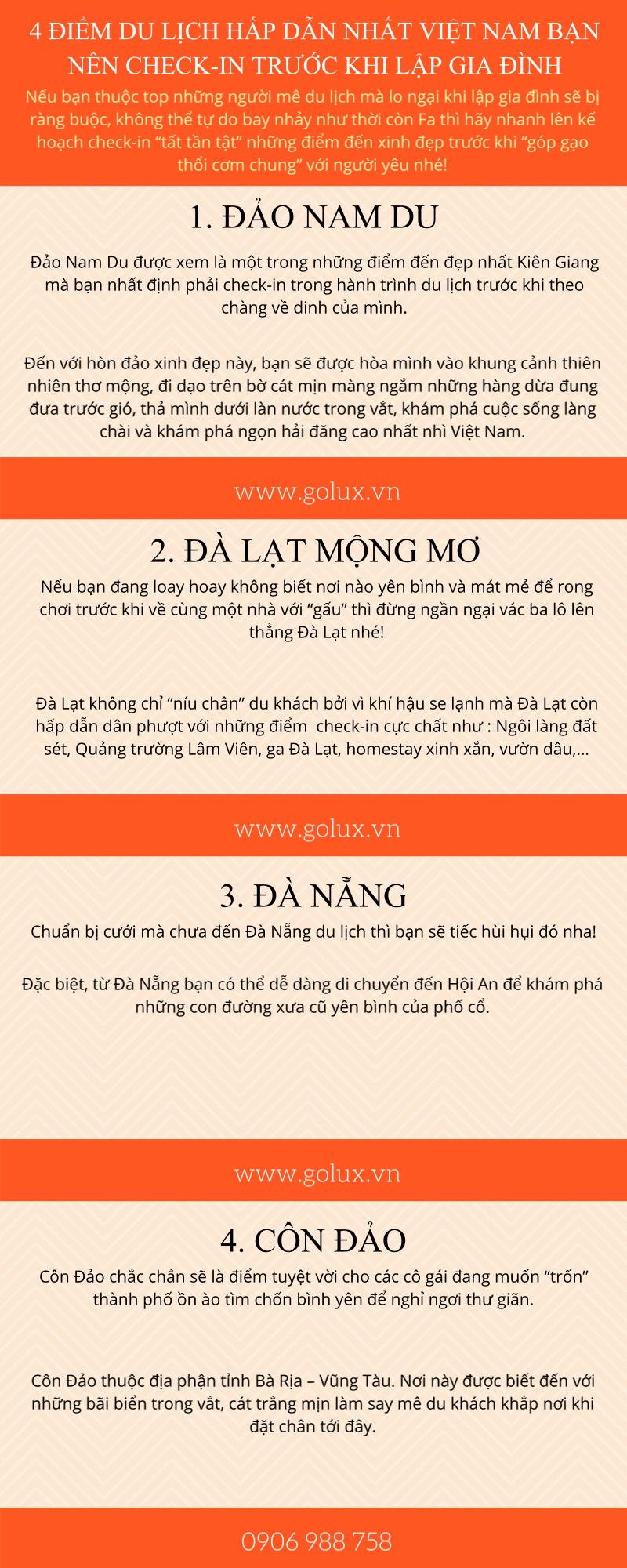 4 điểm du lịch hấp dẫn nhất Việt Nam bạn nên check-in trước khi lập gia đình