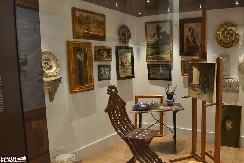Recreación de un estudio de pintor del siglo XIX
