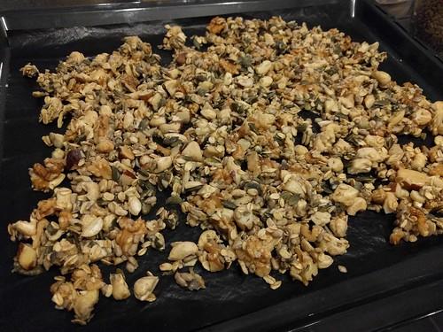 granola met chocolade