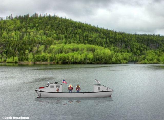 Hiram & Medlar on Lake Nipigon ©Jack Boardman