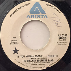 THE BRECKER BROTHERS BAND:IF YOU WANNA BOOGIE ... FORGET IT(LABEL SIDE-A)