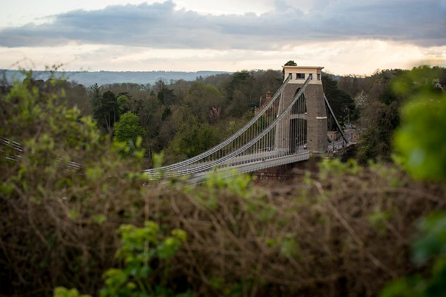Spying on the Clifton suspension bridge