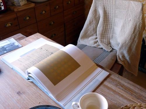 Sunday morning kitchen reading