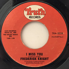 FREDERICK KNIGHT:I WANNA PLAY WITH YOU(LABEL SIDE-B)