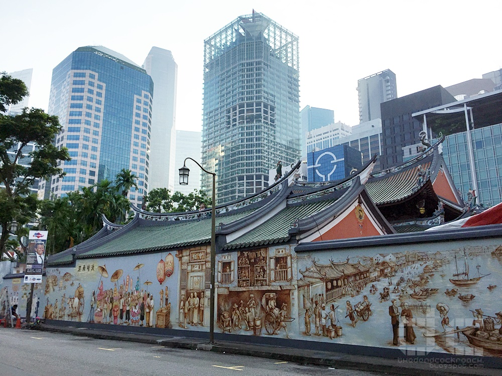 singapore, thian hock keng temple, telok ayer street, mural, yip yew chong,car free sunday,天福宫