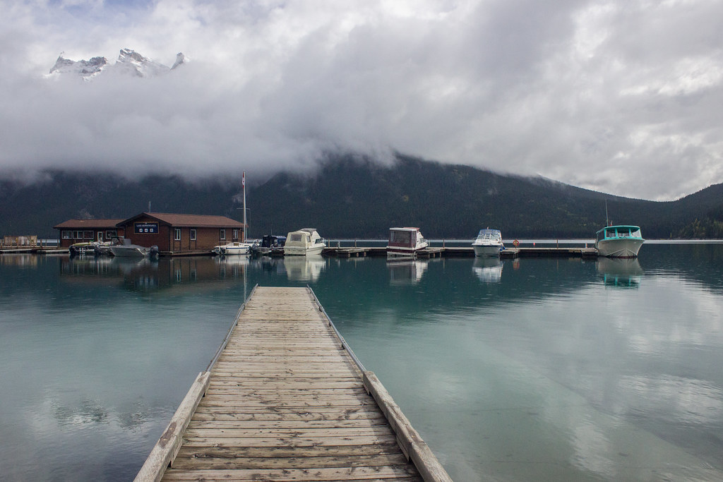 Cloud over Lake Minnewanka