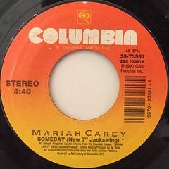 MARIAH CAREY:SOMEDAY(LABEL SIDE-A)