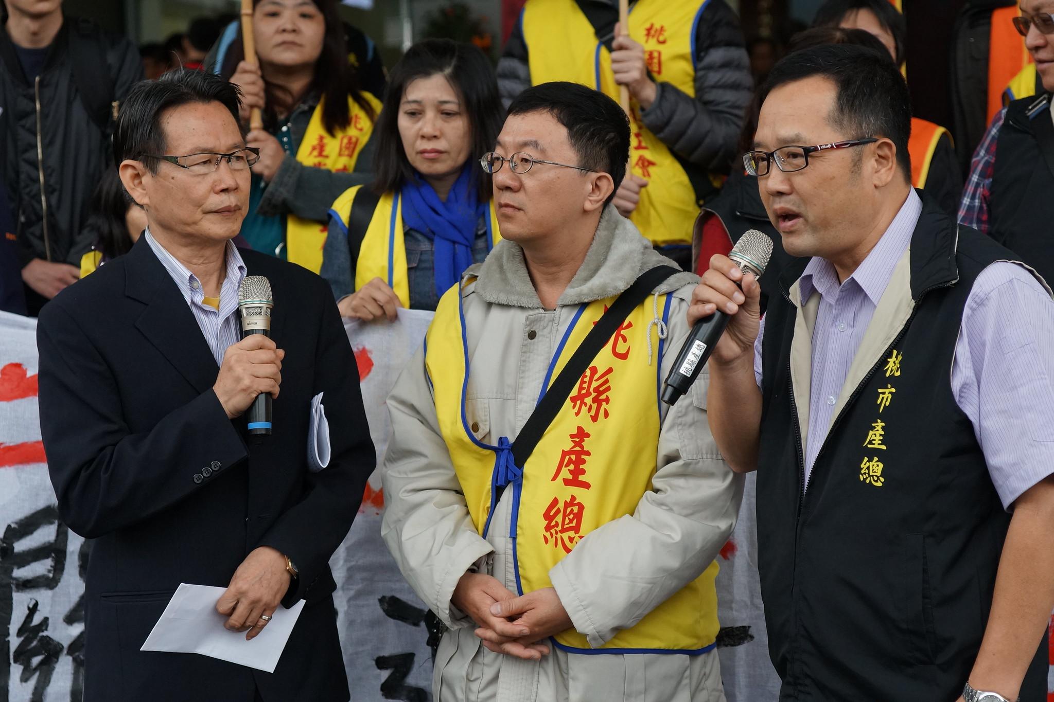桃園市勞動局勞資關係科科長馮飛耀表示將對資方開罰10萬至50萬。(攝影:王顥中)