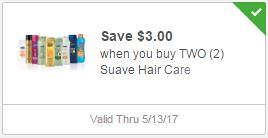 Free Suave Shampoo