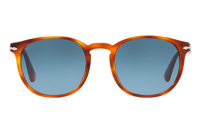 13817bb26e Ticking two key style trends for Spring Summer 17 – the patterned frames  and blue-tinted lenses modernise an otherwise ...